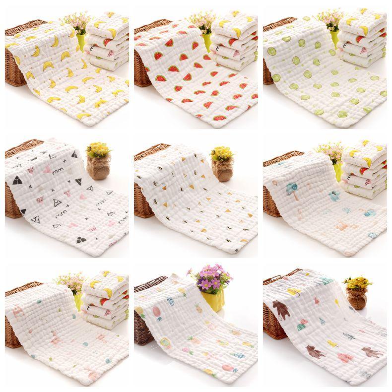 Mussola Bambino Asciugamani tessuto cotone garza Newborn Burp panni morbidi bagno del bambino del tovagliolo di fronte appena nato fazzoletto Infant washcloth AHC3641