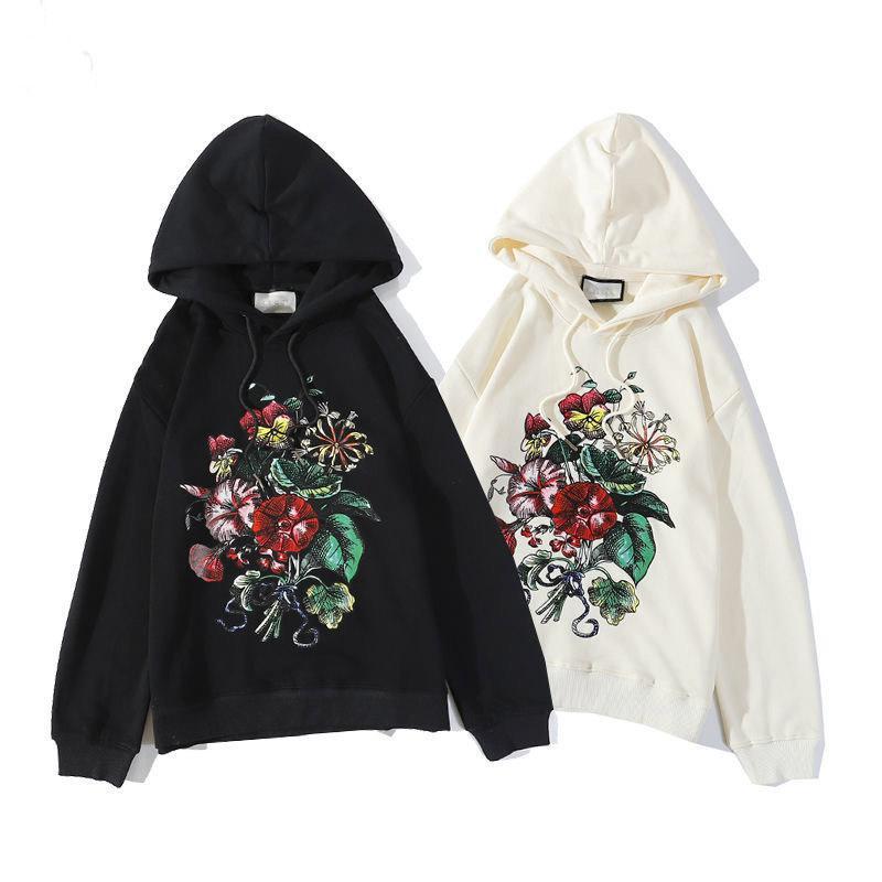 2020 Herren Hoodies Womens Fashion Designer Hoodies Blumendruck Brief Druck Sweatshirts Hip Hop Männliche Weibliche Pullover Tops M-XXL