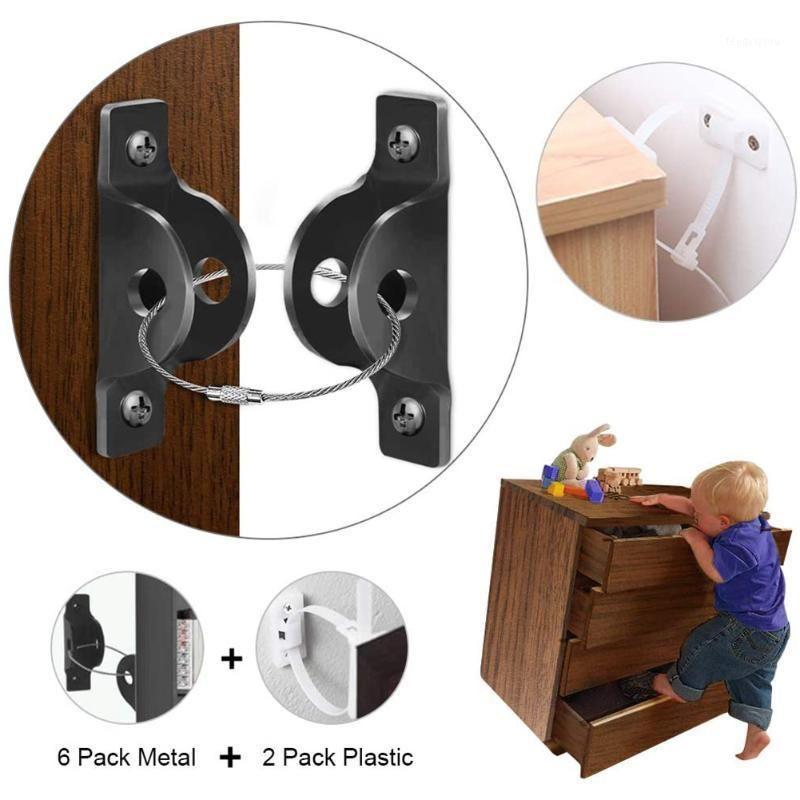 Móveis Âncoras Kit Metal Home Baby Baby Bloqueio de Segurança Restrictor Safe Strap Wall Mounted Proteção Segura Kit1