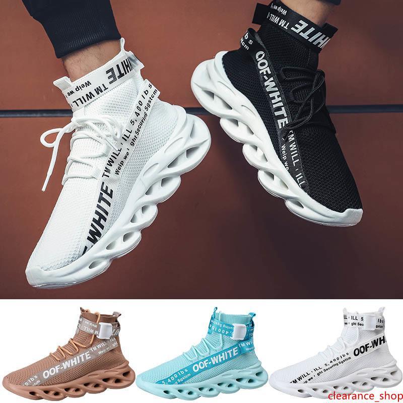 El diseñador de moda Zapatos para hombre de los zapatos del diseñador calcetín Triple Blanco Azul Marrón Negro para hombre de mediana alta calcetín Entrenadores corredores Deportes zapatillas de deporte 40-45