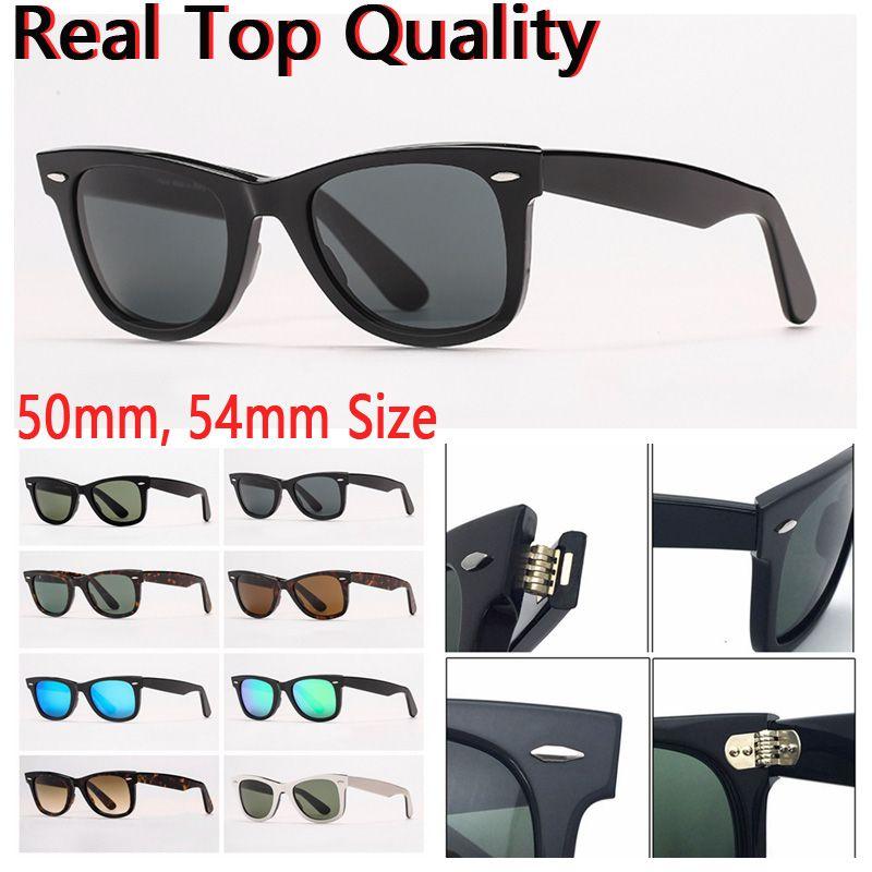 Frauen Sonnenbrille Herren Sonnenbrille Mode Sonnenbrille Sonnenbrille Reale UV-Schutz Glaslinsen mit Ledertasche und allem Einzelhandelspaket!