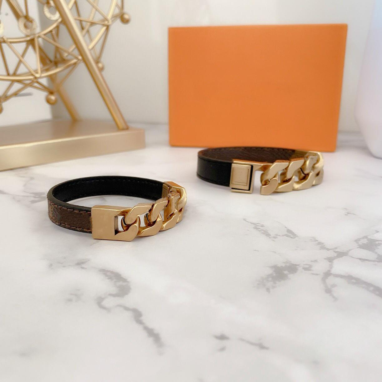حار بيع 316l الفولاذ المقاوم للصدأ مجوهرات الحب قفل الخامس أساور أساور pulseiras أساور جلدية للنساء / الرجال المجوهرات