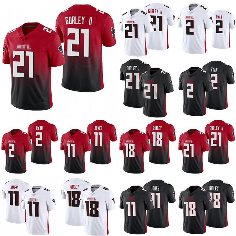 2020 novo 2 Matt Ryan 11 Julio Jones 21 Todd GurleyAtlantaFalcons18 Ridley Futebolcamisola