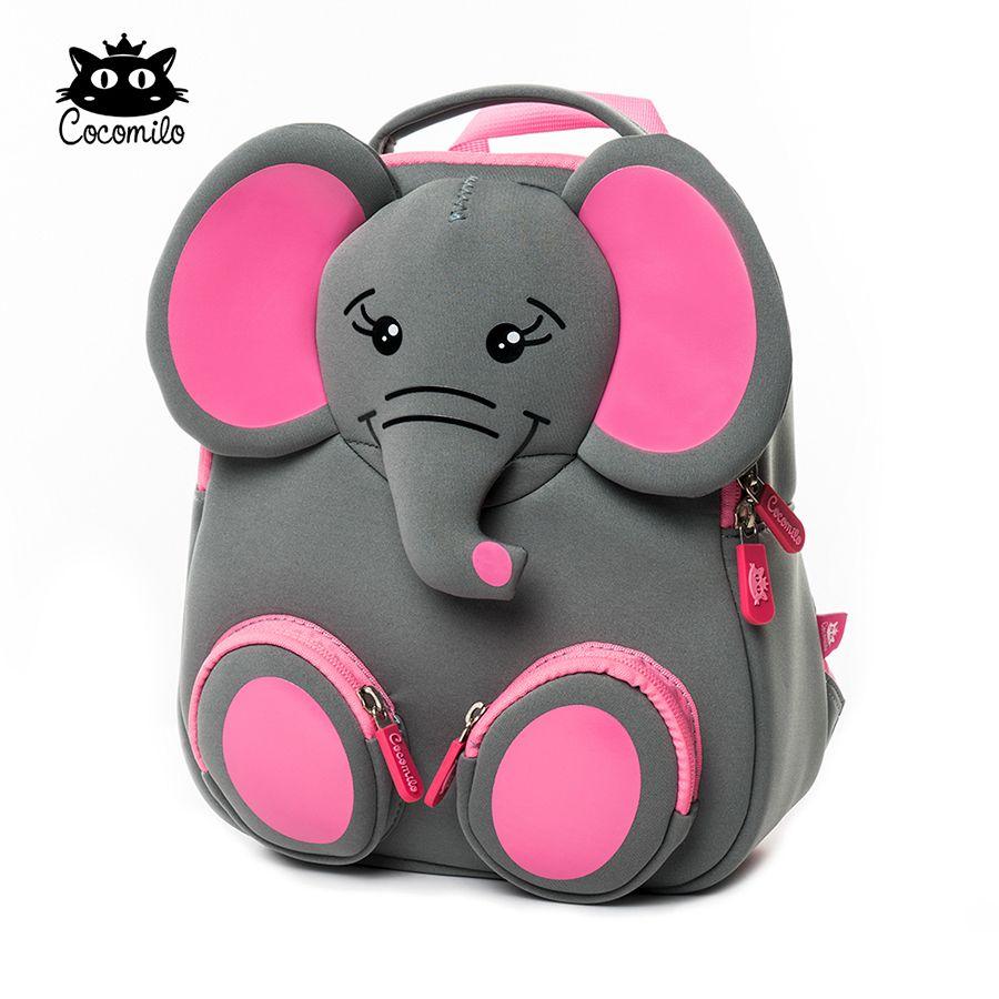 3D Happy Elephant Model Schule Große wasserdichte Zoo Tiere Design Mochila Infantil Mode Anti verlorenes Geschenk für Kleinkind Kinder klein C0202