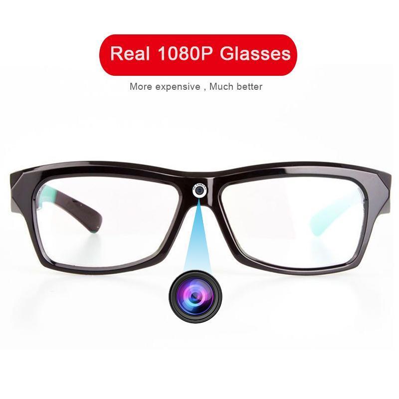 미니 카메라 리얼 1080P HD 카메라 안경 PO 비디오 레코더 DV 웨어러블 캠코더 캠 안경