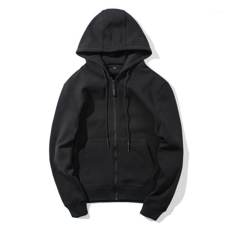 Herren Hoodies 100% Baumwolle Beiläufige Sweatshirt Herren Trainingsanzug Street-Wear Hip Hop Langarm Cardigan Mit Kapuze 2020 Herren Hoodie1