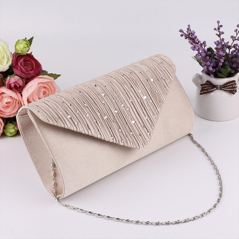 Delle donne da sera Pochette diamante paillettes frizione femminile Crystal Evening Bag Matrimonio borsa del partito di banchetto Nero Oro Argento