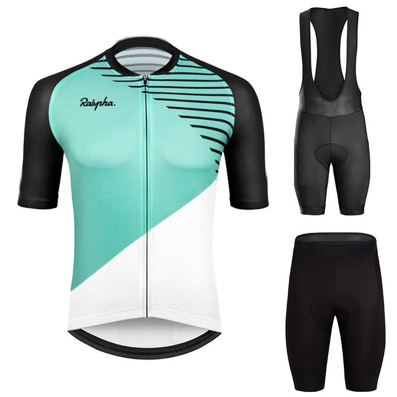 Racing Sets 2021 Ralvpha Cycling Jersey Set Breathable Pro Team Sport Bicycle Men Clothing Short Bike