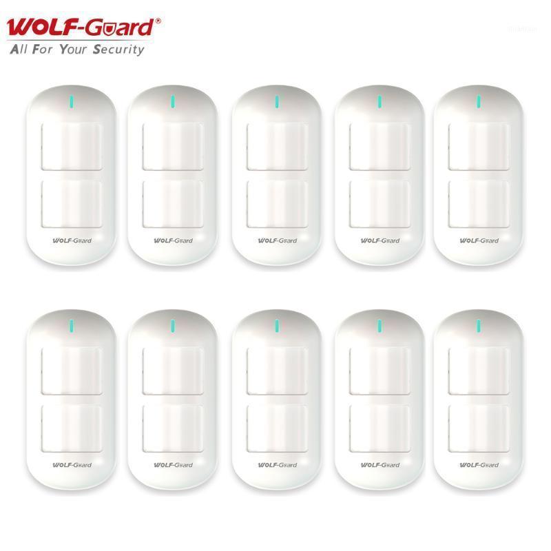 1/2/4/6/8 / 10 pcs Wolf-Guard Detector pêco sem fio Dual Pet Imune Motion Sensor sensor para alarme domiciliar Sistema de segurança