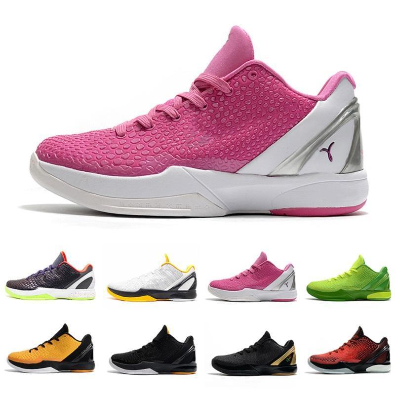 حار الأزياء BHM Proto 6 أحذية رجالي كرة السلة 6S أعتقد الوردي الأسود ديل سول جرين الرجال المدربين الرياضة في الهواء الطلق