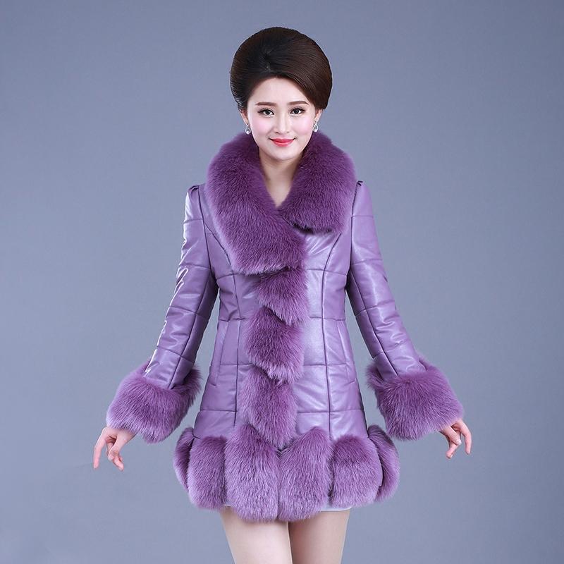 المرأة الفراء فو منتصف العمر كبيرة الحجم 4xl فروي معطف المرأة رقيق دافئ طويل الأكمام الإناث قميص النسخة الكورية الخريف الشتاء