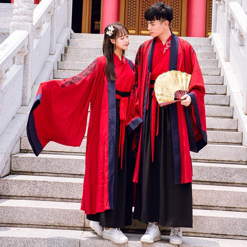 Hanfu Women Men Traditional Chinese Costumes Cosplay Clothes Fairy Dress Folk Festival Rave Outfit Performance Clothing YB1078