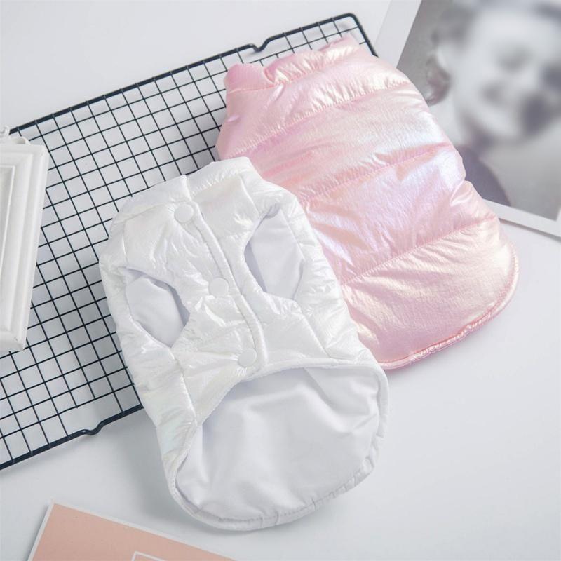 Automne Hiver chaud vers le bas de vêtements pour chiens Parkas clair Gilet réfléchissant imperméable Manteau Vêtements pour animaux domestiques Do