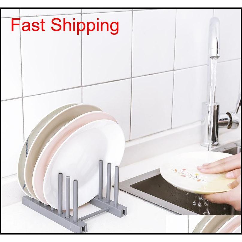 Suministros de cocina de alta calidad Soporte de almacenamiento Soporte de drenaje Bastidores de cocina Plástico Plástico Plato Tapa de tapa S Qylhzw Toys2010