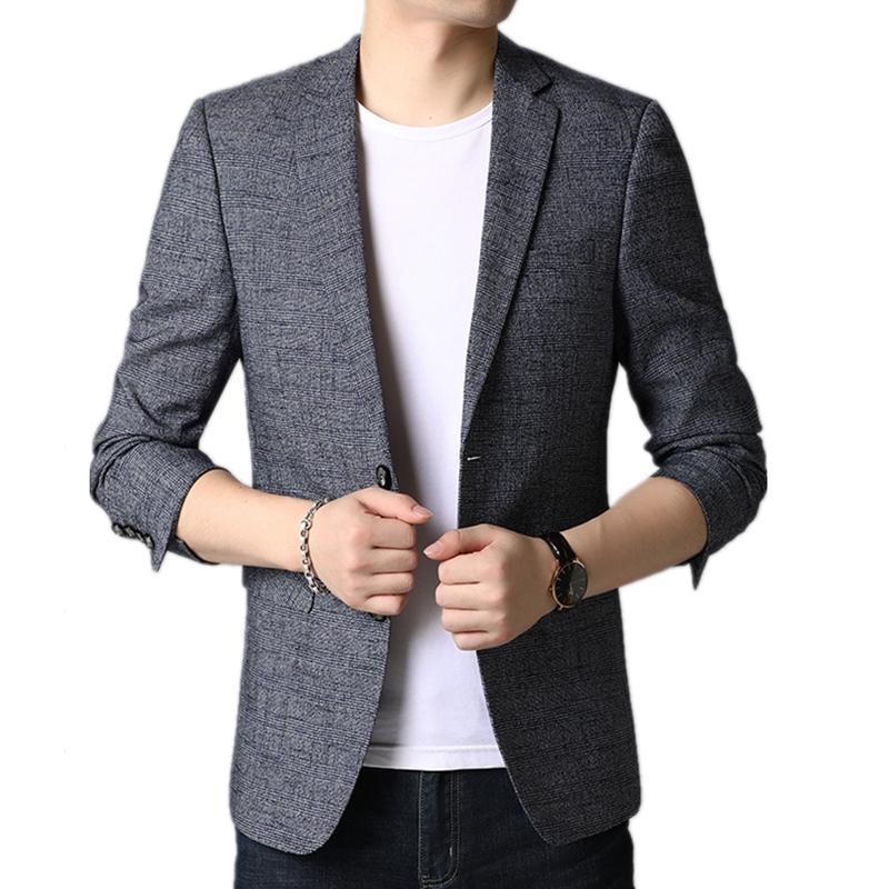 Mens Blazers Plus Size 4XL manica lunga gioventù casuali dimagriscono Men Suit Giacche Costume Homme semplici e confortevoli Blazer Masculino