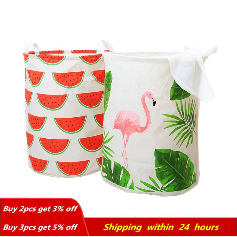 Grand panier de blanchisserie de 40 * 50 cm de stockage de pique-nique panier de pique-nique Boîte de coton lave-vêtement boîte bébé orgniseur livraison gratuite lj201204