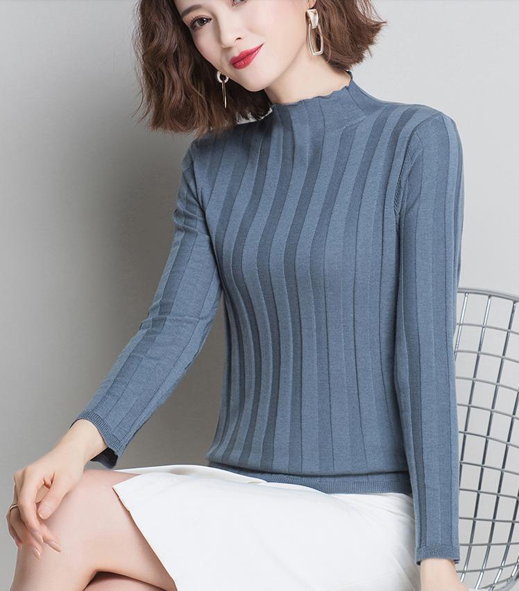 Women Pullover Genuine Half Wool Women's Turtleneck Warm Soft Women's Sweater New 2020 Knitted Sweater Kobieta Swetry Zjt826
