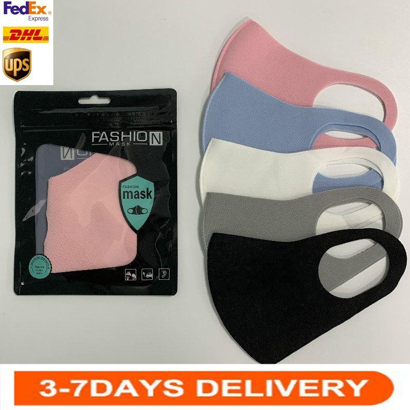 Stok Anti Toz Yüz Maskesi Ağız Kapak PM2.5 Maske Anti-bakteriyel Yıkanabilir Yeniden kullanılabilir Buz İpek Pamuk Maskeler Yetişkin Çocuk FY9041