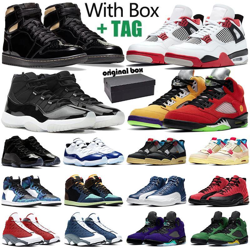 aj1 retro 1s 11s Jumpman hombres zapatillas de baloncesto 1s 4s Fire Red 5s 11s Concord 12s 13s zapatillas deportivas al aire libre con caja