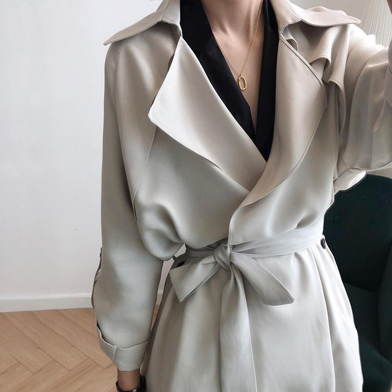 Nueva moda fina rompevientos de la cintura suelta de las mujeres de la cintura larga y el abrigo para las mujeres
