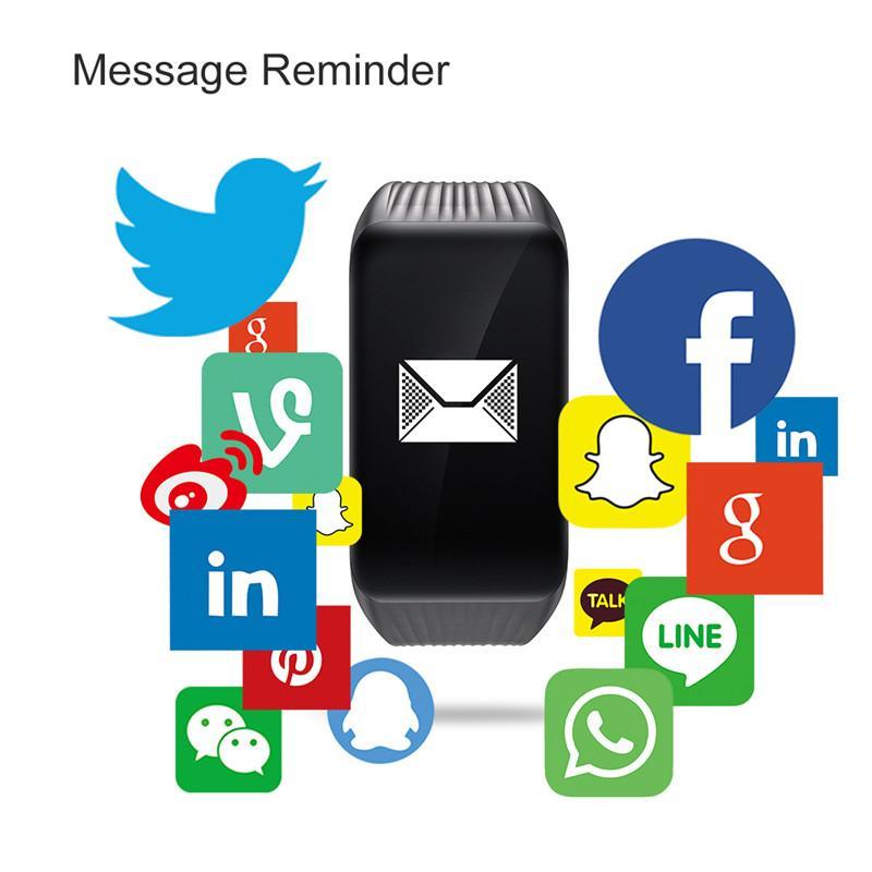 K1 Fitness Tracker Smart Armband Herzfrequenzmonitor Wasserdichte Smart Watch Activity Tracker Smart Armbanduhr für iPhone Android Telefon Uhr