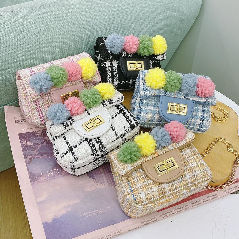 Кошелек бушевые овцы милые дети 2021 детские сумки для плеча мессенджер милый меховой мяч Fashon кошелек девушки монеты кошельки маленькие квадратные сумки