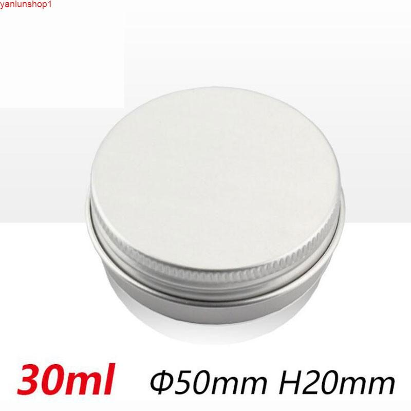 Vente chaude Cosmétique Cream Jar Conteneur de voyage Ronde en aluminium en métal en aluminium BANDS 50PCS / Lot poids léger Lidhigh Quantity