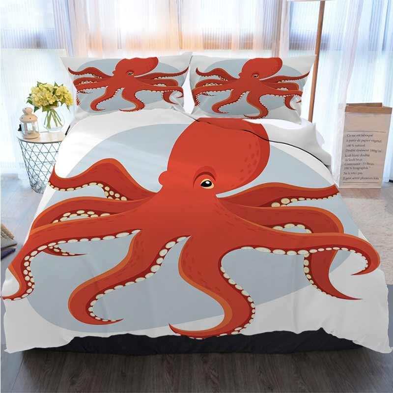3D дизайнер Постельные принадлежности Комплекты Octopus пододеяльник дизайнерская кровать стеганое Наборы