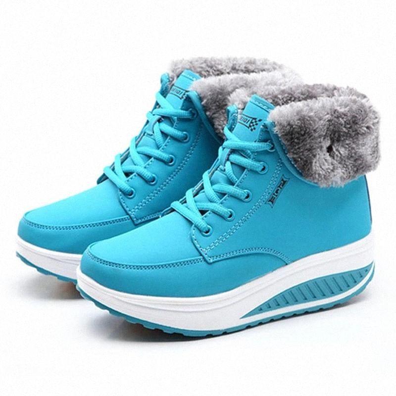 Creeper New Femmes Bottes Plateforme Chaussures Femmes Chaussures En Peluche Chaud Snow Bottes Femelle Sneakers Hiver Bottillons Femmes # BM6J