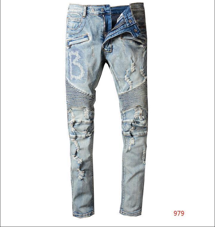 20FW Jean de los hombres pantalones de color puro pantalones casuales de mezclilla de moda con estilo Straight Denim Hombre pantalones para hombre ropa Tamaño 28-42