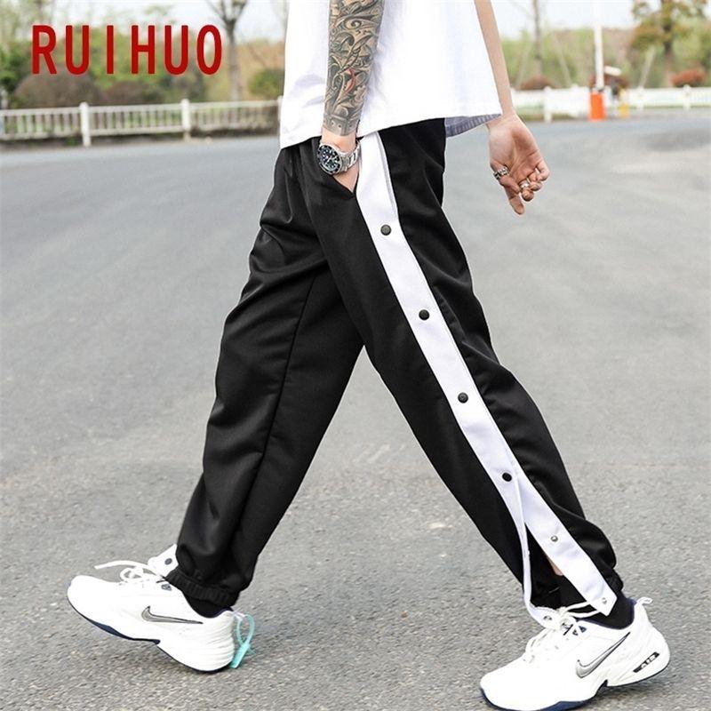 Ruihuo Sonbahar Rahat Harem Pantolon Erkekler Giyim Joggers Japon Streetwear İş Pantolon Hip Hop Eşofman Sweatpants M-3XL 201113