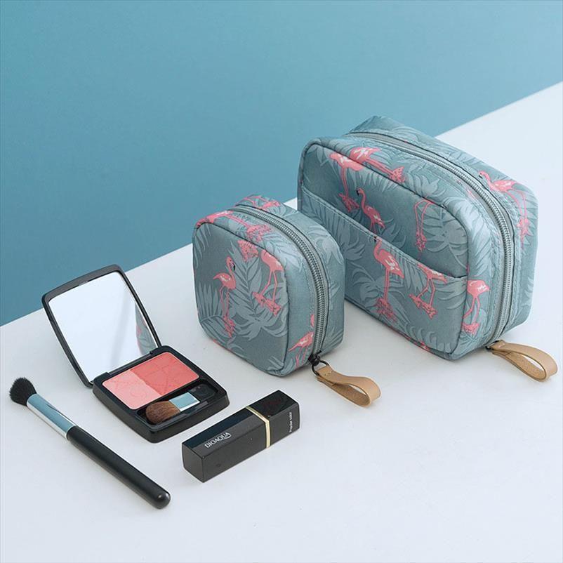 Fashion Mini Solid Color Flamingo Makeup Bag Lipstick Bag Cactus Travel Cosmetics Beauty Makeup Bag Storage