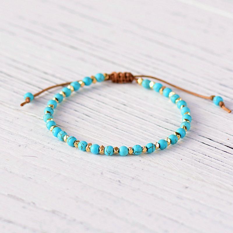 Boho 4mm Blau Freundschaft Armband Schnitt Oberfläche Metall Perlen Einstellbare Frauen Armband 2020 Neue Charm Schmuck Männer Bracele1