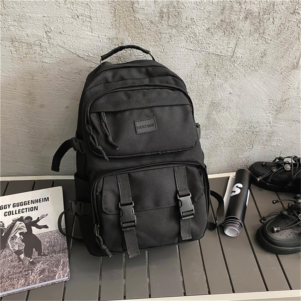 Männer Unisex 2020 Wasserdichte Reißverschluss Tasche Frauen Nylon Reisen Eine Laptop Geldbörse Mochila Rucksack Multi-Pocket School Bagpack Vccha
