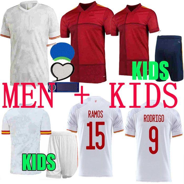 2020 2021 Spanien Fussball Jersey Camiseta España Paco Morata A.Inasta Pique Spanien 20 21 Alcacer Sergio Alba Männer Kind