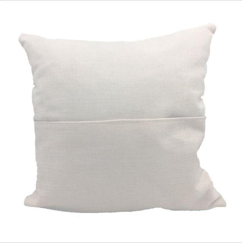 Sublimazione Blank Cuscino Blank 40 * 40 cm Colore a colori Pocket Pocket Cover Personalizzato Beige Bianco Biancheria Biancheria Biancheria Biancheria Cuscino