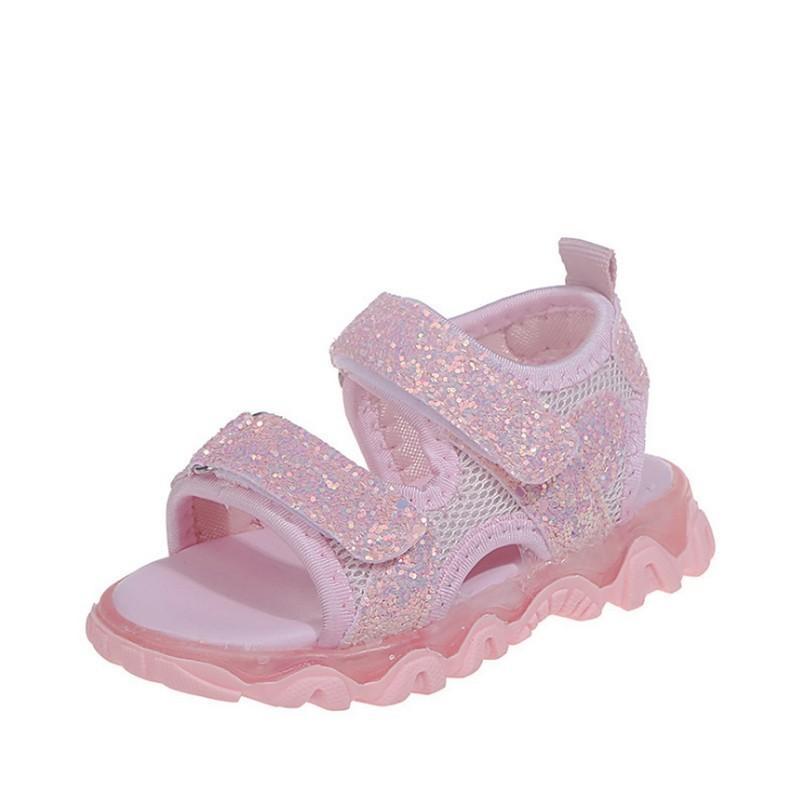Crianças LED Light Up Sandálias da criança do bebê confortável sapatos de verão das meninas do menino de incandescência Sandals suave inferior Crianças Luminous Sneakers