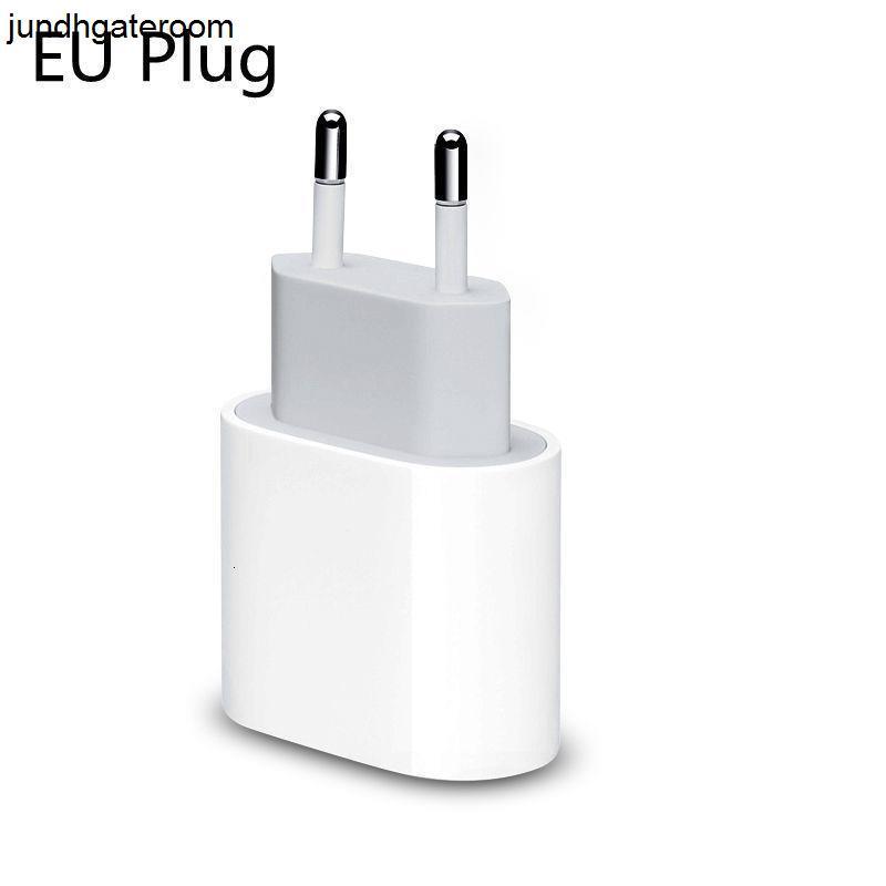 Adaptador 20w Power UE USB US PD Carregador de Parede Tipo C Plugue Rápido Cabo de carregamento