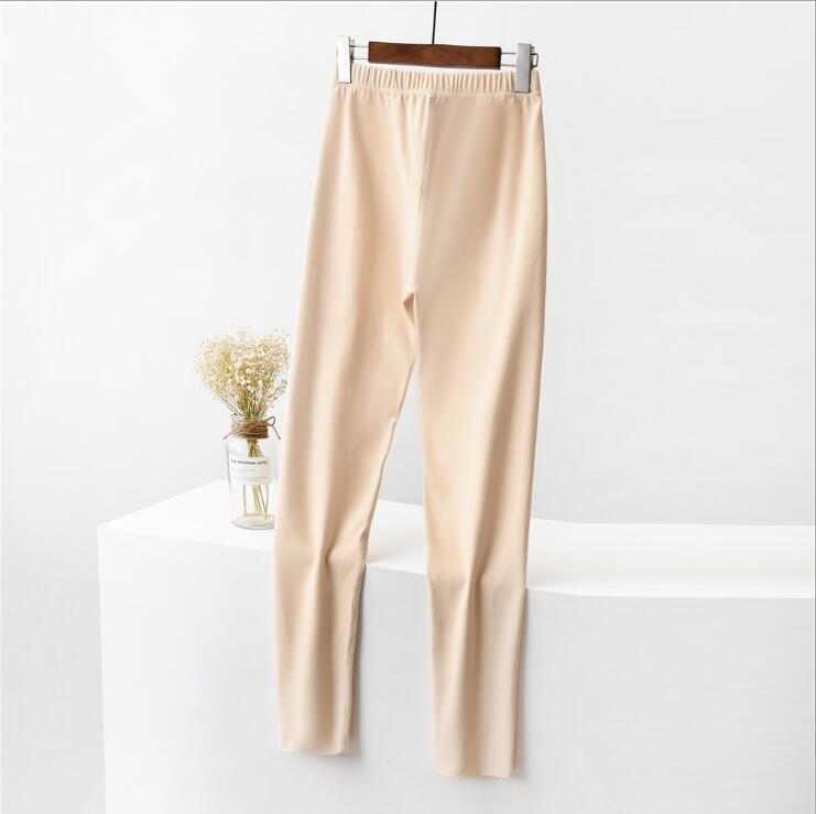 Теплые и плюшевые леггинсы женские корейские бархатные самообновления дома термальные осенние брюки случайные женские брюки твердые