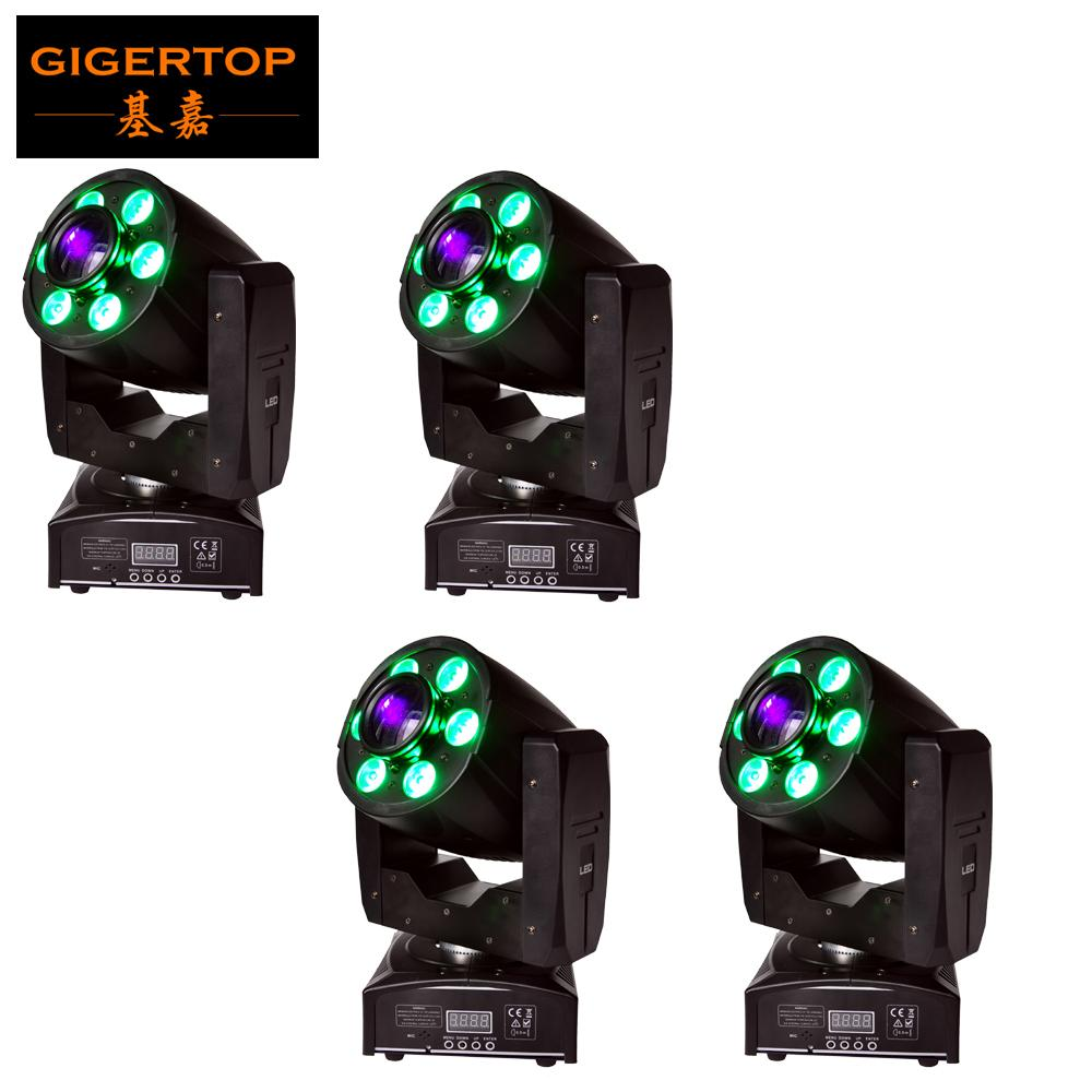Freeshipping 4XLOT 1x30W White LED+6x8W RGBW 4IN1 Color Hybrid 95W Led Moving Head Gobo Spot Wash Light 2in1 DMX 4/18CH 90V-240V