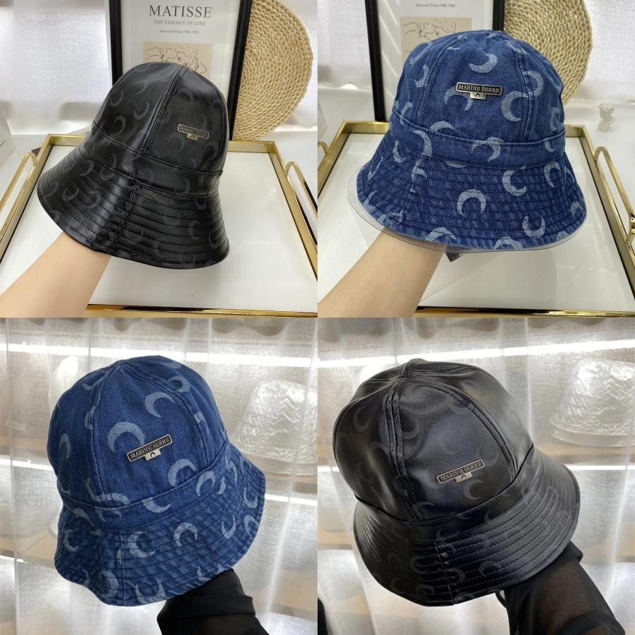 Sombrero del cubo de las mujeres sombreros y gorras remiendo Washed Denim sombrero del cubo de Hip Hop ancho sólido Pesca ala playa del algodón Cap # 296