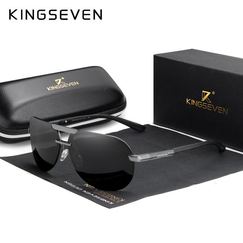 Sol Marka Çerçevesiz Yeni Gözlük De Güneş Gözlüğü Gafas Polarize Sürüş Pilot Çerçeve Tasarım UV400 Erkek Gözlüğü Kadın Erkek Güneş Kingseven GDPBC