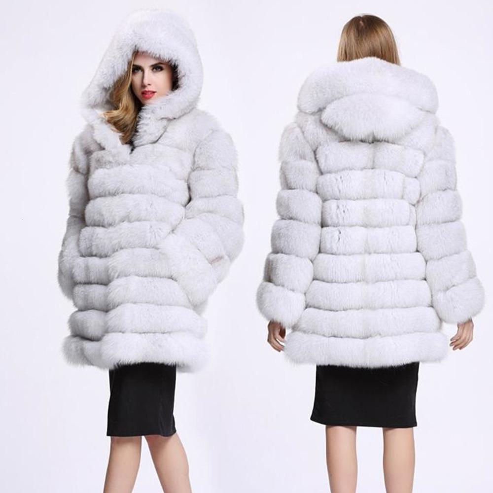 40% Natural Winter Fox с меховым жилетом Женского пальто ZDP1