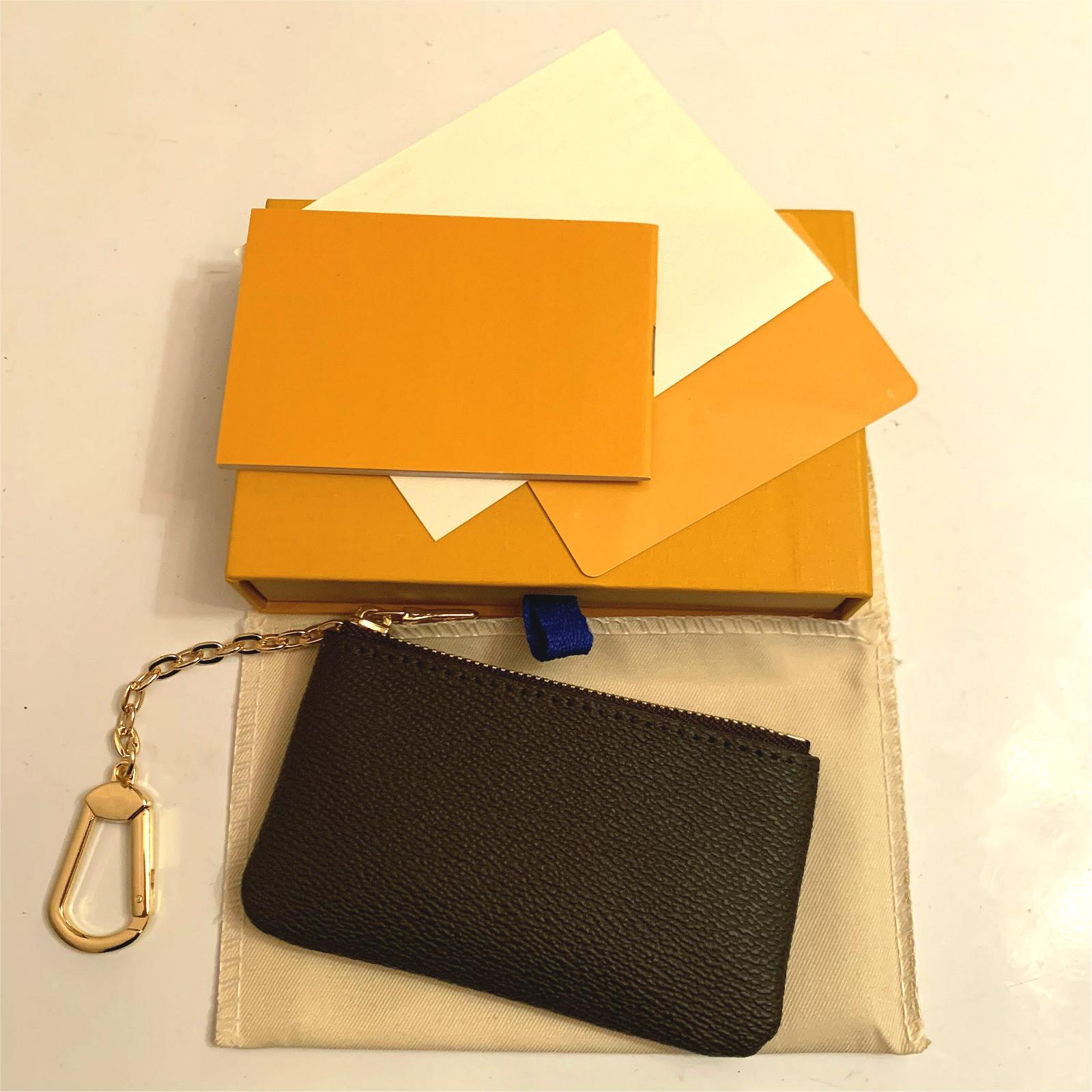 Leder Farbe 4 Leder Damier Münze Hält Brieftaschen Frauen Klassische Schlüssel Qualität Mode Halter Pouch Geldbörse Kleine Schlüsselschlüssel High Wbjkn