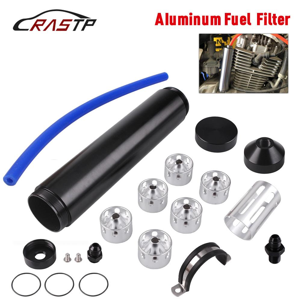 "RASTP -8.5 inç OD 1.73 ""Alüminyum Araba Yakıt Filtresi Solvent Tuzak Tüpleri 1/2-28 5/8-24 Napa 4003 Wix 24003 Oto Yakıt Filtresi Tube OFI050"