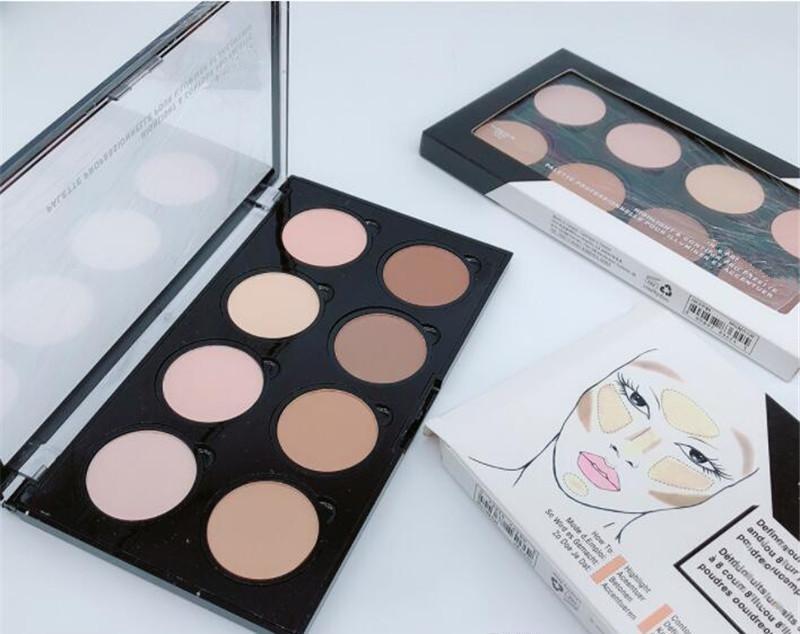 Destaque Contorno Pro Paleta Corretivo Pó Sombra Fundação Paleta Facial Tamanho 8 Cores Sombra Maquiagem Epacket