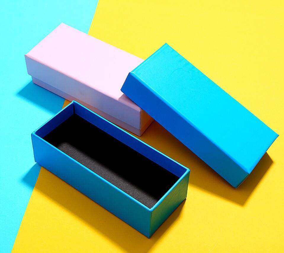 Pure Color PU-Aufbewahrungsbox Himmel- und Erdbedeckung Sonnenbrille-Box PU-Material hochwertige Brille-Box, spezielles für Logo-Druckverpackungsboxen
