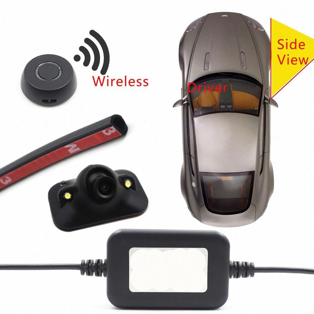car wireless button control Diy blind spot detecion side view camera parking mirror DVR dual detection visible parkin system OCQV#