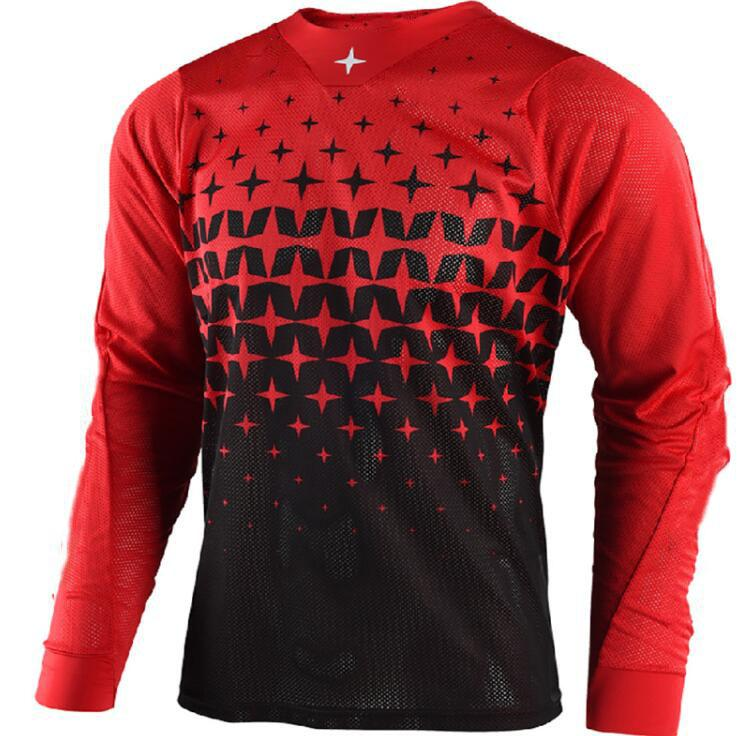 Estate Asciugatura rapida e Traspirante T-shirt per il tempo libero Moto Racing Rider T-shirt a maniche lunghe T-shirt Moto Sport digitale Stampa digitale T