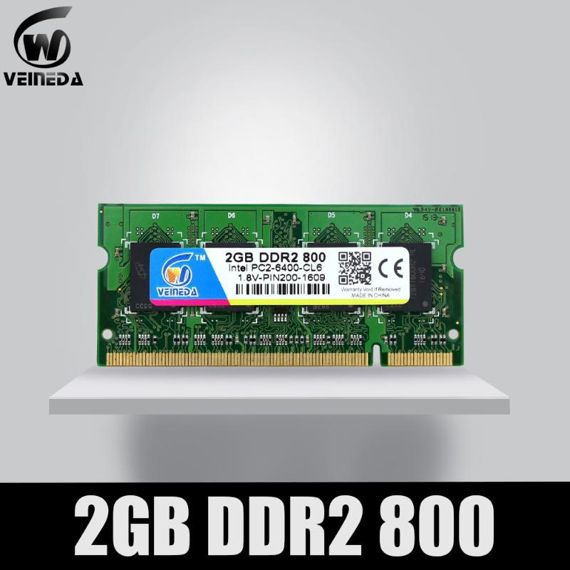 VEINEDA Memory Ram DDR2 2gb 4gb 800Mhz Laptop Memory Ram 2gb ddr 2 PC2-6400 for Notebook motherboard NON-ECC